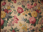 VINTAGE PIECE OF BARKCLOTH - 1950's - FLORAL PATTERN  30