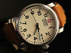 Wenger Swiss Military Ivory Dial SWISS MADE Brown Leather Strap Men's Watch