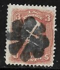 Sc 85 Count 15 x 18 Grill Radial Fancy Cancel SON 3 Cent 1867 US Stamp 8999