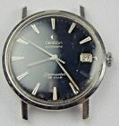 OMEGA SS SEAMASTER DE VILLE AUTOMATIC MES WATCH BLACK DIAL 24 JEWEL #562