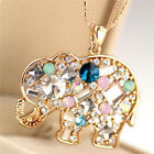 Fashion Crystal Lucky Lovely Elephant Necklace Pednat Necklase*Long ChLAG