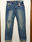 NEW LEVIS 501 CT SELVEDGE JEANS CUSTOMIZED TAPERED BUTTON FLY REDLINE 34X34 148