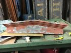 circa 1870 PEAKED victorian window HEADER pediment lintel OLD red paint 42.5
