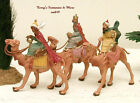 FONTANINI DEPOSE ITALY EARLY 25 3 KINGS ON CAMELS NATIVITY VILLAGE 51334