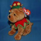 Ty Beanie Baby Elfis - MWMT (Dog Learning Express Exclusive 2006) Christmas