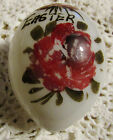 Antique Victorian Blown Glass Floral  Easter Egg Hand Painted 1800s