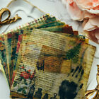 10pcs vintage vellum self adhesive stickers for scrapbooking planner card making