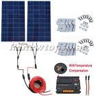 200W 2x100W Off Grid Solar Panel Kit with 20A CMG Controller for 12V RV Home