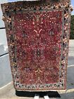 Auth: 1930's Antique Persian Sarouk Rug    Red Botanical Wool Cutie   3x5     NR