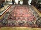 Auth: 30's Antique Oushak Turkish Rug  Decorative 10x14 Hand Made Wool Beauty NR