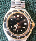 OMEGA SEAMASTER 200M PRE-BOND 38mm DIVE WATCH, DATE STAINLESS & 18K GOLD & links