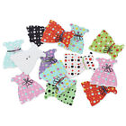 50 New DIY Wood Sewing Buttons Dress shaped Scrapbooking Mixed Card Making Craft