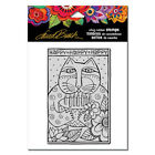 Stampendous Cling Rubber Stamp by artist Laurel Burch Happy Birthday Cat NEW