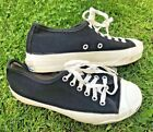 Vintage Converse JACK PURCELL Made In USA Black Canvas Sneakers Shoes Size 6 7