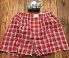 Tommy Hilfiger NEW Red Navy Plaid Mens Size Small S Woven 2 Pack Boxers $35