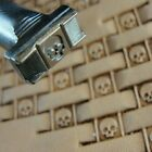 James Linnell Skull Basket Weave Stamp Leather Stamping Tool