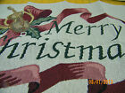 "ChristmasTapestry  Pillow Top Fabric Piece 14"" x 16"" Merry Christas"