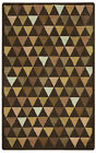 Rizzy Rugs Brown Triangles Wool Diamonds Contemporary Area Rug Geometric JP8760