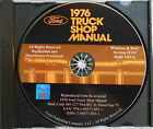 1976 FORD BRONCO ECONOLINE CLUB WAGON COURIER BIG TRUCKS SHOP SERVICE MANUAL CD