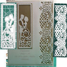 Lace Border Bride Groom Metal Cutting Dies Stencil Scrapbooking Embossing Craft