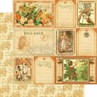 Graphic45 AN EERIE TALE 12x12 Dbl Sided Scrapbook 2pc Papers FANCIFUL FABLE