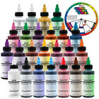 US Cake Supply Chefmaster Deluxe 24 Bottle Airbrush Cake Color Set in 2 Ounce