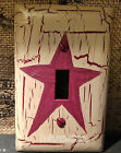 Burgundy Star Single Light Switch Plate  Country Farm De