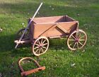 Antique Wooden Goat Cart with Original Wood Yoke, 1800's