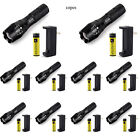 10PCS 5000LM LED Flashligh Zoomable Tactical Flashlamp+ 10x Battery + 10xCharger