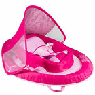 SwimWays Inflatable Infant Baby Spring Swimming Pool Float with Canopy Pink