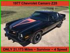 Chevrolet Camaro Z28 1977 Chevrolet Camaro Z28 ONLY 21173 Miles 4 Speed SURVIVOR No Modifications