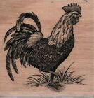 Stampabilities Rooster Chicken Mounted Rubber Stamp L 1089 NEW