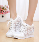 Women Mesh Breathable Wedge Increase Sandal Platform Sneakers Shoes 2 Colors hot