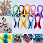 Stripes Quilling Paper 3mm Width Origami Paper DIY Hand Craft Solid Color