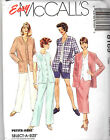 EASY MCCALL'S SEWING PATTERN  #8169 PANTS, JACKET, VEST, SHORT SIZES 40,42,44