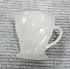 Vintage Fire King White Milk Glass Gold Golden Anniversary Cream Pitcher FREE SH