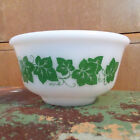 Hazel Atlas Platonite Milk Glass Ivy Mixing Nesting Bowl 5