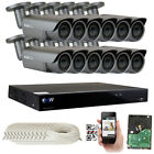 16 Channel NVR 12 5MP 1920P 4X Motorized Zoom PoE IP Security Camera System 8TB