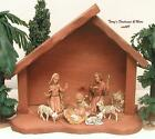 FONTANINI ITALY 4 MY FIRST CRECHE STABLE 9PC NATIVITY VILLAGE SET w FIGURES