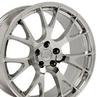 22 Hellcat Style Wheels For Dodge Charger Challenger Magnum Chrome Rims Set 4