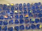 12 Vintage Swarovski Sapphire AB 10 mm Faceted Beads Quality ART 5301