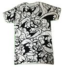 Looney Tunes Mens Taz Tazmanian Devil All Over Graphics Shirt New S