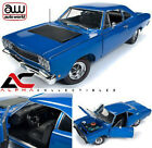 AUTOWORLD AMM1125 118 1968 PLYMOUTH ROADRUNNER POST COUPE BLUE
