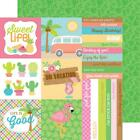 Doodlebug FUN IN THE SUN 12x12 Dbl Sided Scrapbook 2pc Papers Journal Cards