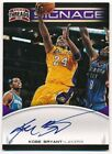 KOBE BRYANT 2012 13 PANINI THREADS SIGNAGE ON CARD AUTOGRAPH LAKERS AUTO SP $250