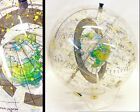 Vintage MCM Lucite Farquhar Earth in Space Transparent Celestial Globe Map 1977