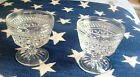 TWO VINTAGE CIRCA 1960'S ANCHOR HOCKING WEXFORD 7 OUNCE DESSERT GLASSES, NICE