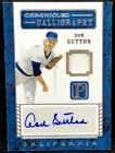 DON SUTTON 2016 Panini Pantheon CHRONICLE CALLIGRAPHY AUTO JERSEY RELIC #31 99 !