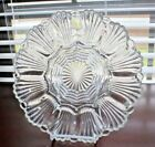 Anchor Hocking Clear Glass Shell Design Deviled Egg Oyster Plate 12 Halves 10