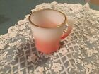 FIRE KING MUG ANCHOR HOCKING USA 3-3/8inch  PINK OMBRE D HANDLE Gold Trim
